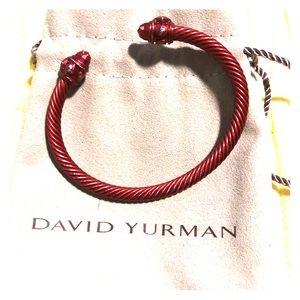 David Yurman red cable aluminum cuff